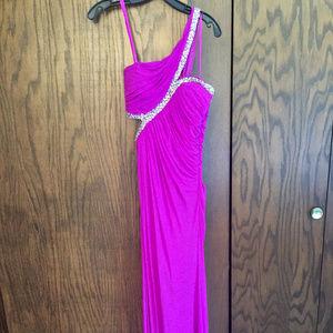La Femme Magenta Formal Gown